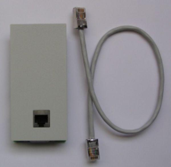 Modulfrontplatte für LAN Modul 508/509/S2M-Modul perlgrau