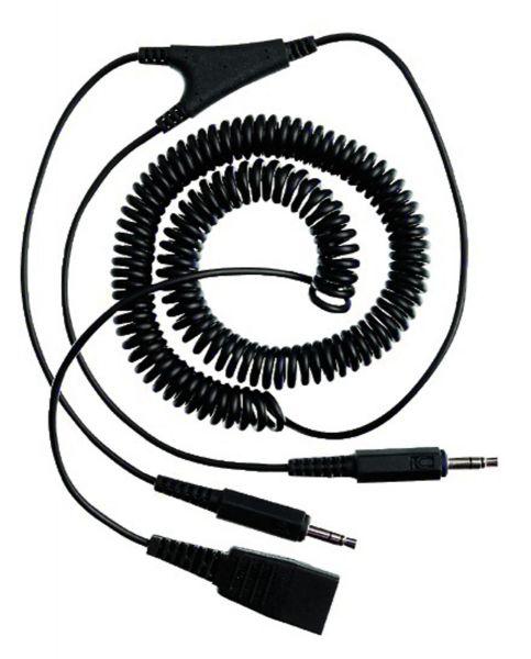 JABRA Soundcard-Kabel QD auf 2x 3,5mm Klinke (2,0m, spiral)