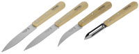 Opinel Küchenmesser-Set 4-teilig Holzgriff