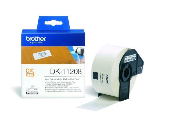 Adressetiketten DK-11208 (400 St.) weiß 38 x 90 mm