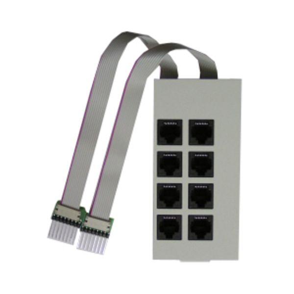 Modulfrontplatte T-Modul/UP0-Modul 508 für AS 200 IT perlgrau