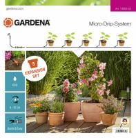 Gardena Micro-Drip-System Erweiterungsset Pflanztöpfe