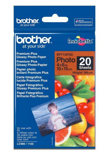Brother Fotopapier A6 20 Blatt (bis 6000 dpi) 260g/m²